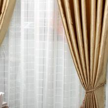 High-end Patterns Printing Lined and Blackout Curtains in Gold