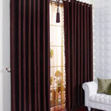 High-end Polyester Thermal and Blackout Curtains in Bungundy
