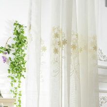 High-end White Embroidery Sheer Patterned Curtains