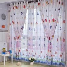 Home Kids Cotton and Fiber Energy Saving Curtains for Pink