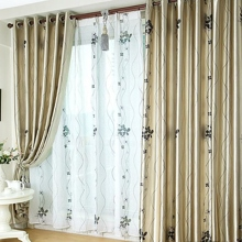 Homely Floral Pattern Polyester Eco-friendly Curtains