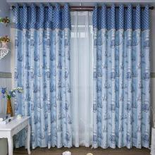 Hot Sale Boats Printed Curtains Made of Poly and Cotton