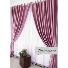 Hot Selling Pink Striped Eco-Friendly Curtains