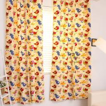 Ikea Style Bird Cotton Cartoon Animal Children Room Curtain
