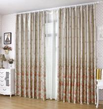 Ivory Charming Curtains for Blackout with Printed Flowers
