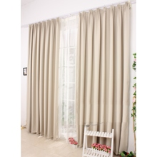 Ivory Curtains of Eco-friendly Linen/Cotton Blend
