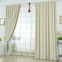 Ivory Stylish Fully Blackout and Eco-friendly Curtains Made in Polyester