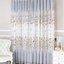 Kids Favorite Cotton Star Printing Lace Eco-friendly Curtains