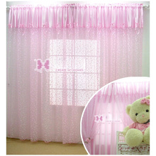 Kids Room Princess Style Light Pink Sheer Curtains