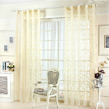 Luxurious Bedroom or Living Room Gold Sheer Curtains