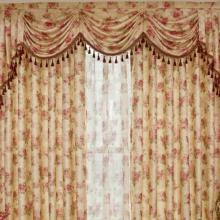 Luxurious European Floral Jacquard Curtains Made of Fiber