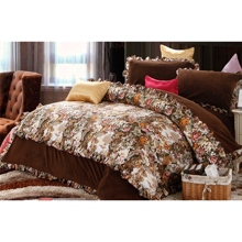 Luxurious Floral Brown 4-piece Bed-in-a-bag