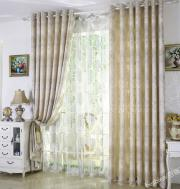 Luxurious Floral Printing Ivory Blackout Curtains for Fancy Style