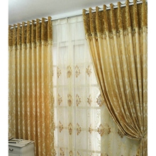 Luxurious Jacquard Energy Saving Gold Curtains