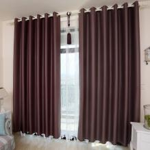 Modern Bedroom or Living Room Blackout Curtains (Two Panels)