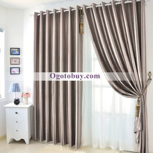 Modern Blackout Eco-friendly Heavy Striped Living Room Curtains