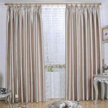 Modern Embossed Highly Blackout Champagne Curtains