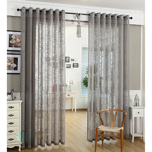 Modern Linen and Cotton Bedroom Short Sheer Curtains
