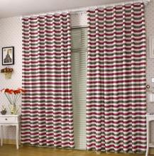 Modern Multi-color Poly Striped Lineated Blackout Curtains (Two Panels)
