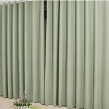 Modern Polyester Thermal and Blackout Curtains in Bud Green