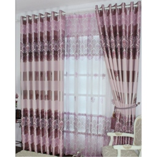 Modern Satin Pink Printed Blackout Curtains