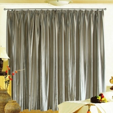 Modern Taste Light Brown Fully Blackout Curtains (Two Panels)