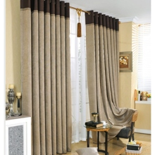 Modern and Chic Artificial Fiber Solid Camel Blackout Curtains