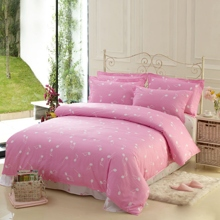Musical Note Cotton 4-piece Bed-in-a-bag in Pink