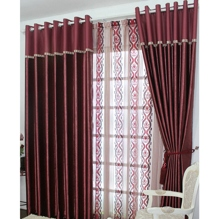 Nice Taste Burgundy Poly/Cotton Blend Thermal Curtains