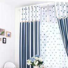 Ocean Style Striped and Polka Dots Cotton Curtains