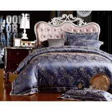 Paisley Jacquard Royal Blue 4-piece Bed-in-a-bag