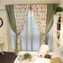 Pastoral Floral Jacquard Multi-colors Eco-friendly Curtains