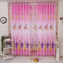 Pink Best Sweet Patterned Beautiful Kids Curtains For Girls