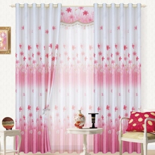 Pink Floral Thermal White Pastoral Curtains