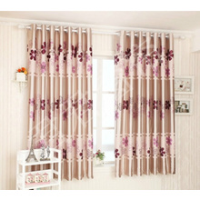Pink Flowers Kids Bedroom or Bay Window Curtains Ideas
