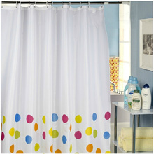 Polka Dots Bottom Polyester Personalized Shower Curtains