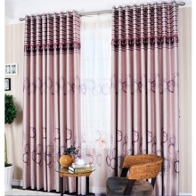 Polyester and Cotton Purple Circular Blackout and Thermal Curtains (Two Panels)