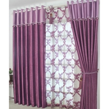 Purple Printed Fancy Sound Absorption Curtains(Two Panels)