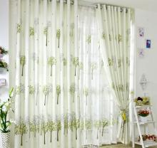 Refreshing Green Tiny Trees Living-Room Curtains(Two Panels)