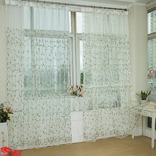 Romantic Country Sheer Curtains of Flower Patterns