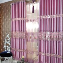 Romantic Hollow Out Rose Embroidery Poly Curtains for Fancy Taste (Two Panels)