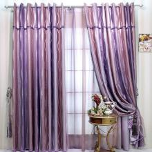 Romantic Lineated Purple Thermal Purple Curtains with Polyester