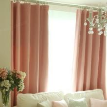 Romantic Pink Blackout Thermal Blend Children Room Curtain