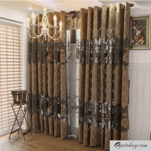 Romantic Poly/Fiber Blend Decorative and Half Blackout Curtains
