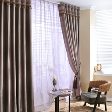 Romantic Smooth Polyester Energy Saving Purple Curtains