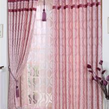 Romantic Water Waved Floral Printed Pink Curtains