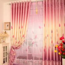 Multi-colors Flower Printed Blackout and Great Bedroom Curtains (Two Panels)