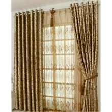 Royal Luxury Velvet Gold Eco-friendly Solid Curtains(Two Panels)