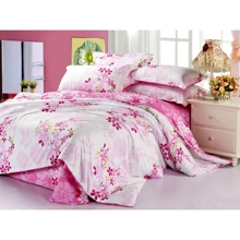Sakura Printing Cotton Pink 4-piece Bed-in-a-bag
