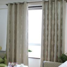 Simple Jacquard Floral Printed Poly Curtains for Living Room